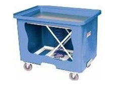 Mobile tubs with bin inserts