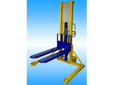 Warequip straddle manual stacker.