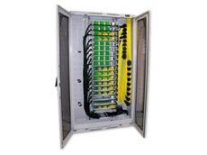 High density optical distribution frames, 1296 fibres, from  Warren and Brown Technologies