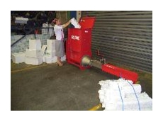 Polystyrene packaging waste becomes a valuable export with Wastech compaction machinery.
