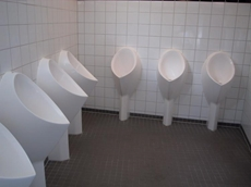 Uridan GVF-1 is a waterless pedestal urinal