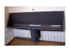 Three wall-hung trough urinals are available, in lengths of 1.2m, 1.8m and 2.4m.