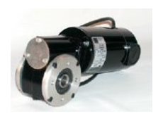 Both gearmotors have 5/8-inch diameter bore through the driveshaft with keyway.
