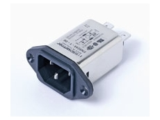 Schaffner FN 9244 IEC inlet filters, designed to conduct noise insertion loss