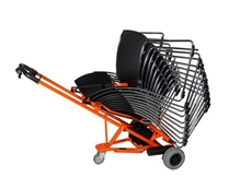 WheelieSafe developed the system for handling stackable chairs for strong productivity and OH&S benefits