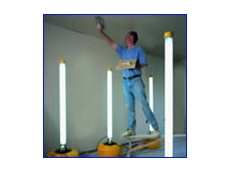 Whyte-Hall Australia's Defender Uplight fluorescent lights are suitable for construction applications
