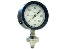 Welded diaphragm pressure gauge seal.