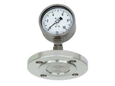 WIKA pressure gauge with Duplex diaphragm seal.