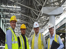 From left, Brisbane Markets Limited (BML) CEO Andrew Young, BML Assistant Property Manager Luke Leeson, Wiley's Site Manager Richard Forbes and Wiley's Senior Project Manager Barry Murphy.