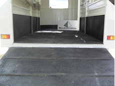 Spray-on polyurethane linings protect horse trucks and floats from damage