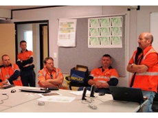 WorkCover Advisor Phill John (far right) sharing some of his experiences with workers from Grange Resources