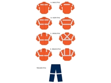 Styles of Riggers high visibility clothing with reflective tape, also available as a combination for coveralls and overalls