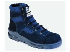Blue suede leather safety boots