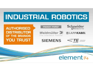element 14 supplies industrial robotics from the world's leading brands