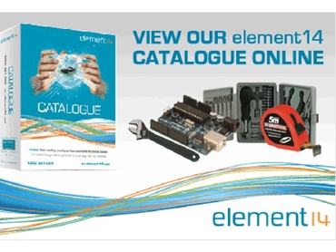 Exclusive element14 catalogue contains extensive product information