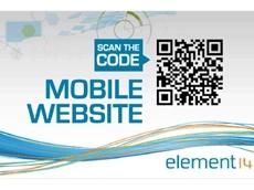 Element14's Mobile website provides convenient online shopping