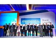 Senior leadership teams of Premier Farnell celebrate the launch of element14 with their suppliers