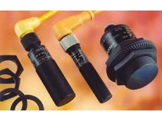 Ifm's range of PTFE-coated inductive proximity sensors.