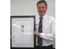 Jack Winson, insignia Managing Director with the bronze medal, won at the National Print Awards