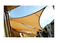 Colourful waterproof PVC shade sails